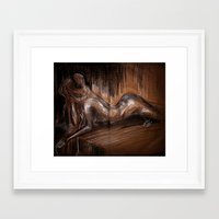 pain Framed Art Prints featuring Pain by Tamlyn Teow
