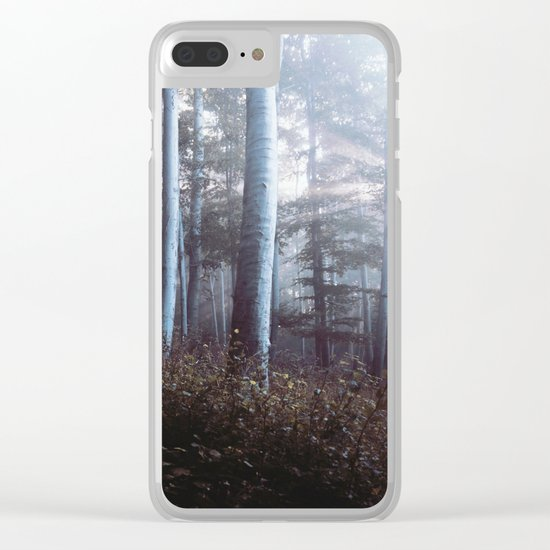 Forest Trees Sunrise Clear iPhone Case