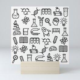 science symbols Mini Art Print