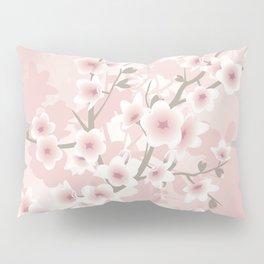 Vintage Floral Cherry Blossom Pillow Sham