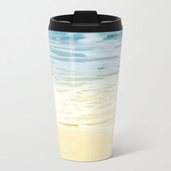 Kapalua Beach dream colours sparkling golden sand seafoam Maui Hawaii Metal Travel Mug