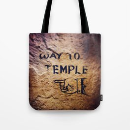 Way to Temple, 2015 Tote Bag
