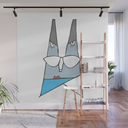 Blue lady Wall Mural