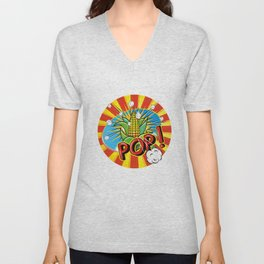 corncob with leaves - POP! - Unisex V-Neck