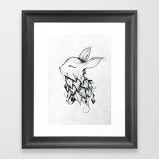 Poetic Rabbit Framed Art Print