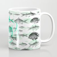 pisces Mugs featuring Pisces by Sergi Ferrando