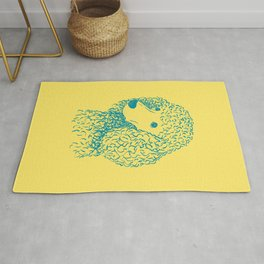 Poodle (Yellow and Teal) Rug