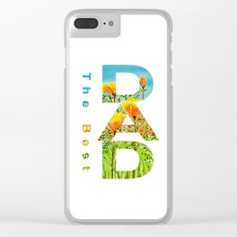 Gift for the best dad Clear iPhone Case