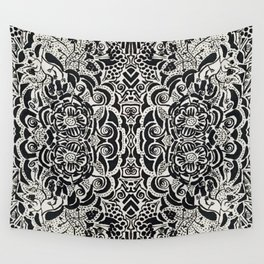Black and White can be so Colorful Wall Tapestry