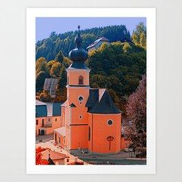 The village church of Helfenberg III | architectural photography Art Print
