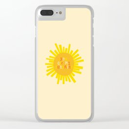 You Are My Sunshine // Yellow Clear iPhone Case