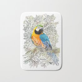 The macaw - Rainforest Series Bath Mat