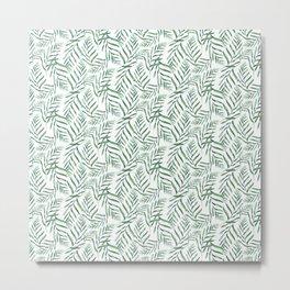 Ferns Pattern Metal Print