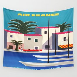 Vintage poster - French Riviera Wall Tapestry