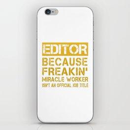 EDITOR iPhone Skin