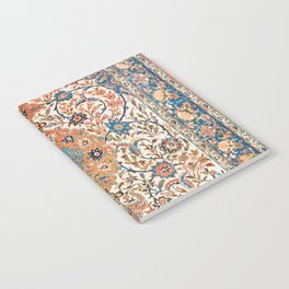 Isfahan Antique Central Persian Carpet Print Notebook