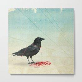 freedom  _ black crow Metal Print