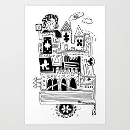 Puzzle Factory Art Print