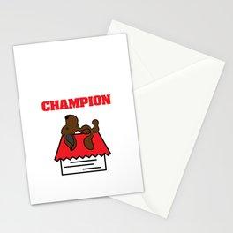Funny Nap King T-shirt Design Nap Champion Stationery Cards