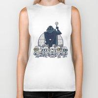 minions Biker Tanks featuring Stormtrooper Minions by Hugo Martin
