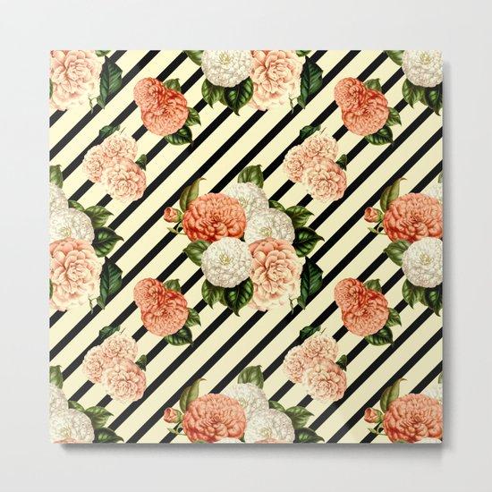 Chrysanthemum Rain Metal Print
