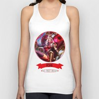 league of legends Tank Tops featuring League Of Legends - Ashe by TheDrawingDuo