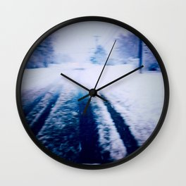 That Cold Winter Road Wall Clock