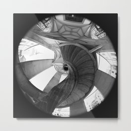 The spiral staircase in the Renaissance castle Hartenfels in Torgau / Saxony Metal Print