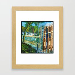 West Bend Park Painting Framed Art Print