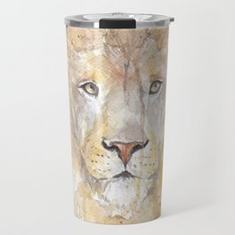 "Watercolor Painting of Picture ""African Lion"" Travel Mug"