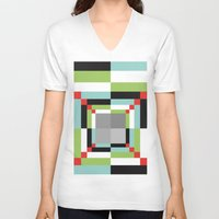 illusion V-neck T-shirts featuring Illusion by Susana Paz
