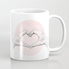 heart in hands // hand study Coffee Mug