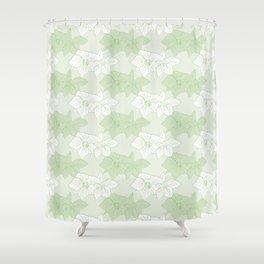 Green Hellebores Shower Curtain