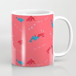 Pink Shark and Dolphin Coffee Mug