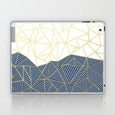 Ab Half and Half Navy Gold Laptop & iPad Skin