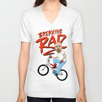 breaking V-neck T-shirts featuring Breaking Rad by Chris Piascik