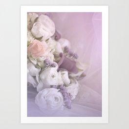 Romantic Flowers Art Print