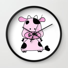 Lady Moo Moo Wall Clock