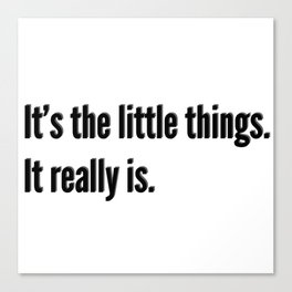 It's the little things Canvas Print