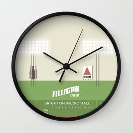 Filligar  with DOM - Brighton Music Hall - Fenway Poter Wall Clock