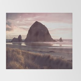 Cannon Beach Sunset Throw Blanket