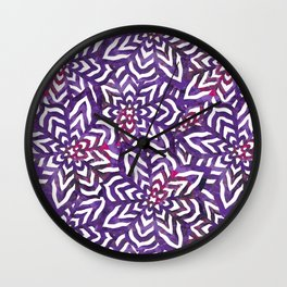 I don't need to improve - Purple and pink Wall Clock