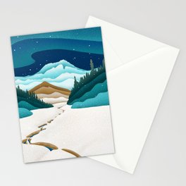 Mt. Hood from the base of Heather Canyon Stationery Cards