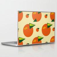 orange pattern Laptop & iPad Skins featuring orange pattern by Avrora-slip