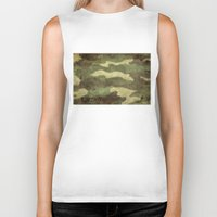 camo Biker Tanks featuring Dirty Camo by Bruce Stanfield