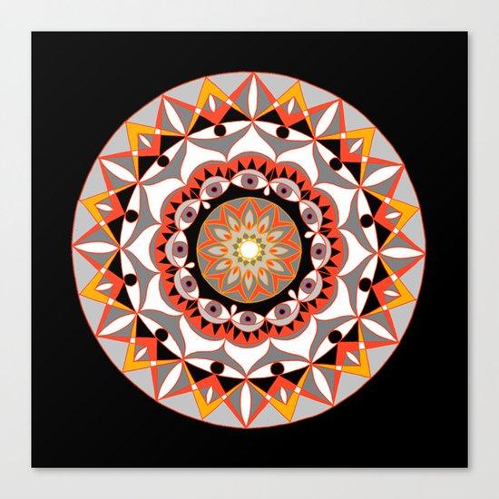 My Solar Plexus Mandhala   Secret Geometry   Energy Symbols Canvas Print