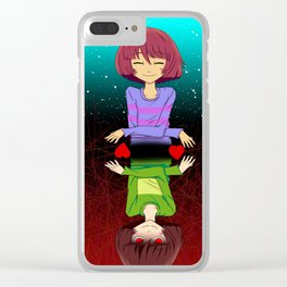 Undertale mercy or fight Clear iPhone Case