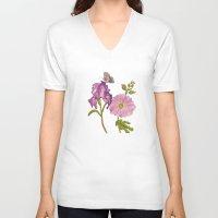 botanical V-neck T-shirts featuring Botanical by Catherine Holcombe