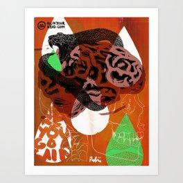 Dark Brains Club Art Print
