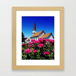 Gran Lutheran and Peonies Framed Art Print